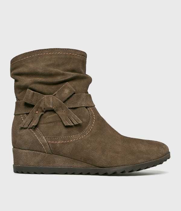 Tamaris Női Magasszárú cipő bézs