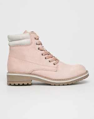 Marco Tozzi Női Magasszárú cipő pirosas rózsaszín
