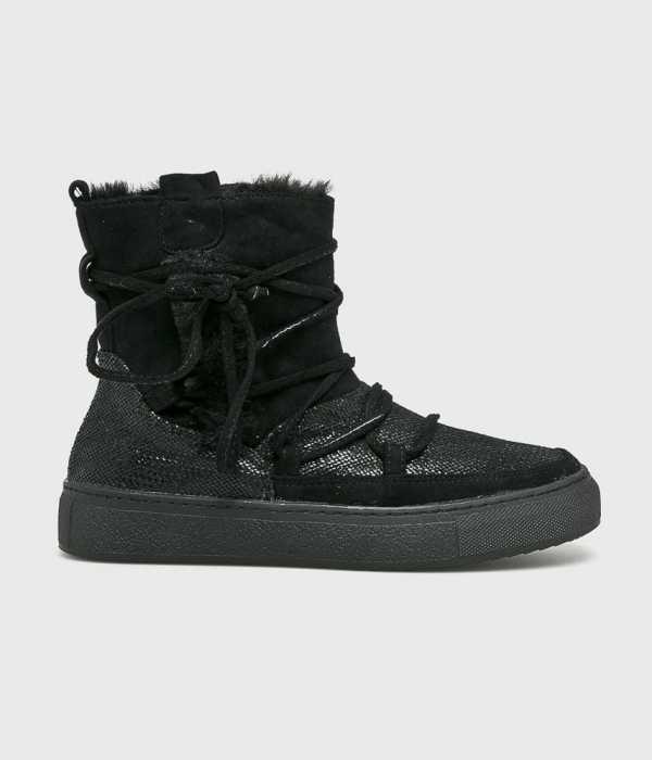 Answear Női Magasszárú cipő R And Be fekete