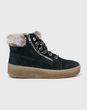 s.Oliver Black Label Női Magasszárú cipő sötétkék