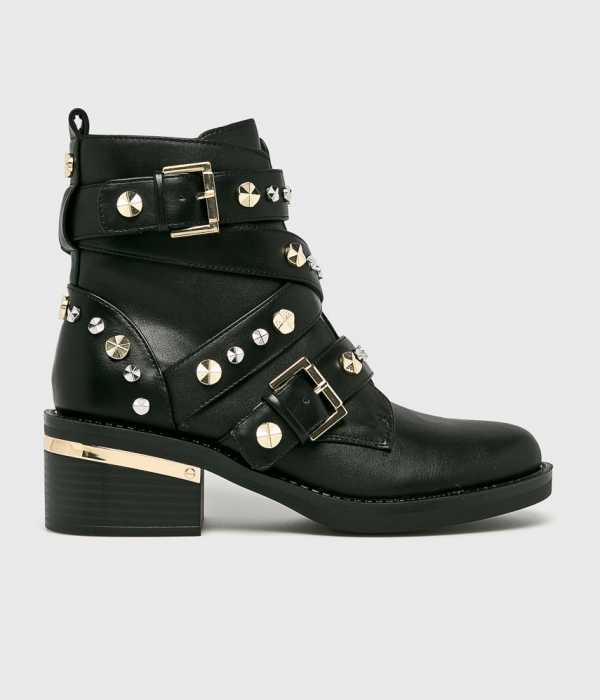 Guess Jeans Női Magasszárú cipő Fancey fekete