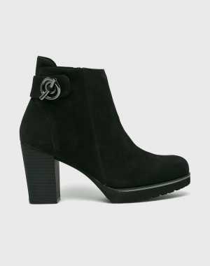 Caprice Női Magasszárú cipő fekete