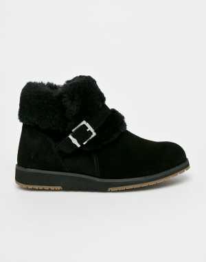 Emu Australia Női Magasszárú cipő Oxley Fur Cuff fekete