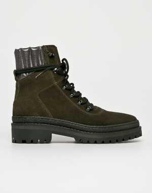 Tommy Hilfiger Női Magasszárú cipő katonai