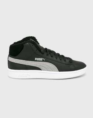 Puma Női Cipő Smash v2 Mid fekete