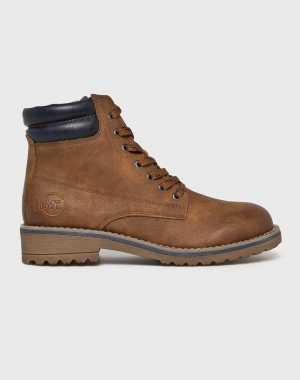 Marco Tozzi Női Magasszárú cipő barna