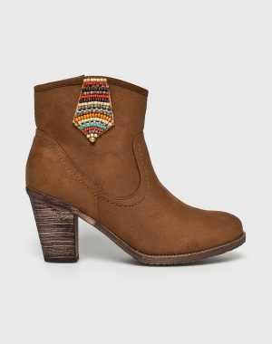 Answear Női Magasszárú cipő Bellucci borostyán színű