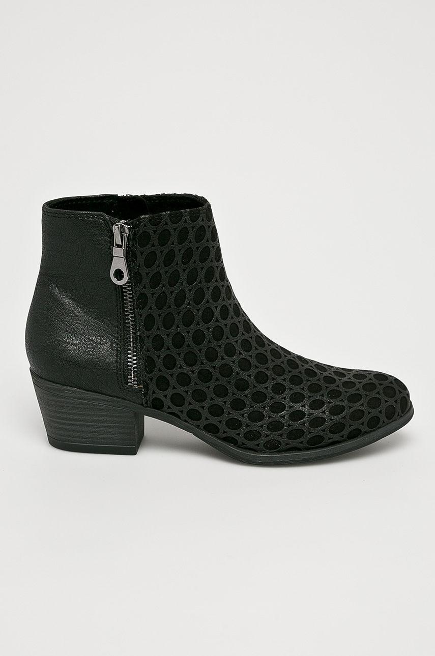 Marco Tozzi Magasszárú cipő női fekete
