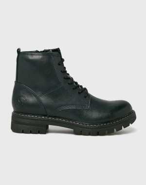 Marco Tozzi Női Magasszárú cipő sötétkék