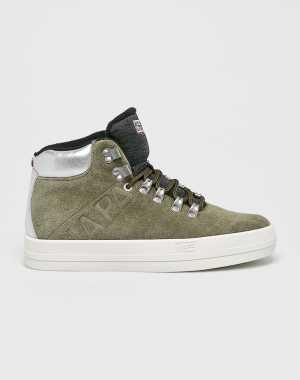 Napapijri Női Magasszárú cipő piszkos zöld