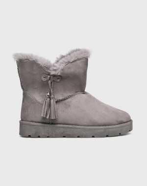 Answear Női Magasszárú cipő Abloom szürke