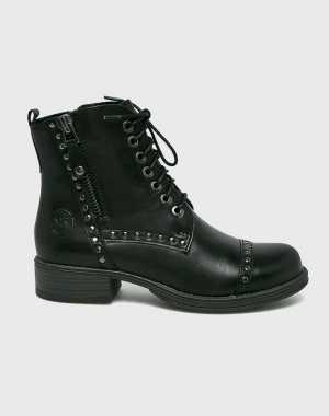 Marco Tozzi Női Magasszárú cipő fekete