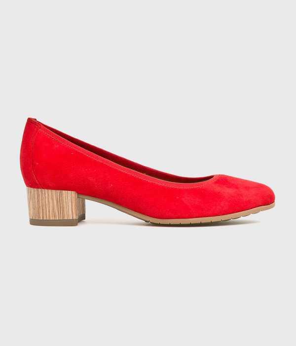 Tamaris Női Sarkas cipő piros